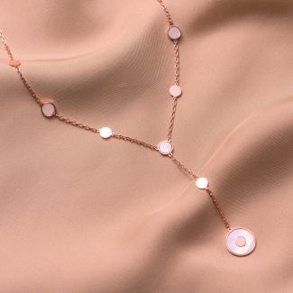 Sterling Silver Necklace Minimal Glam white