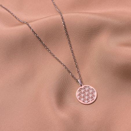 Colier argint Mandala Geometry