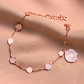 Sterling Silver Bracelet Minimal Glam white