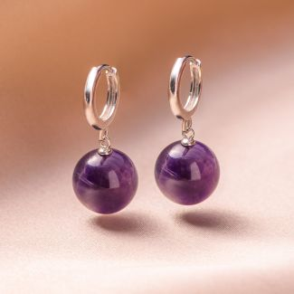 Sterling Silver Earrings Classy amethyst