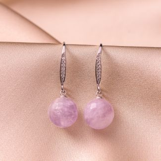 Sterling Silver Earrings Delicate amethyst lavender