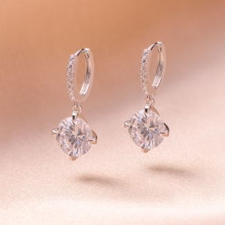 Sterling Silver Earrings Brilliant zirconia