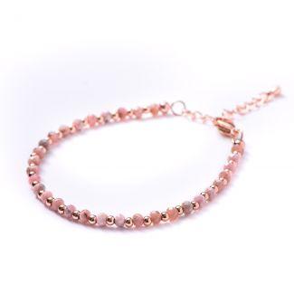 Bracelet rose rhodochrosite