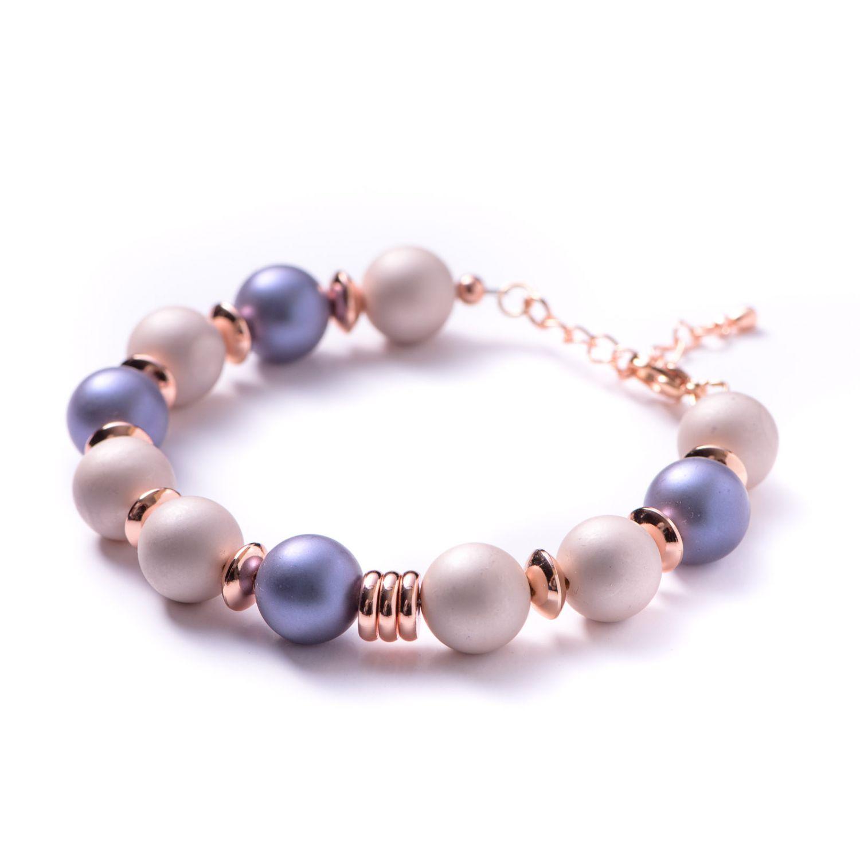 Bracelet shell pearls purple