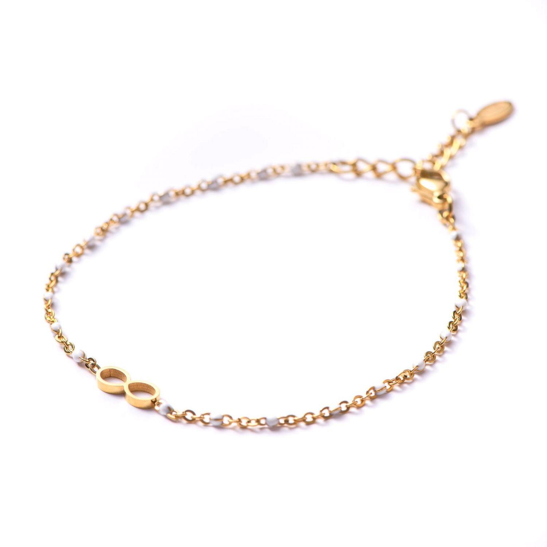 Bracelet Infinity white minimal