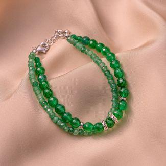 Bratara argint DB jad verde