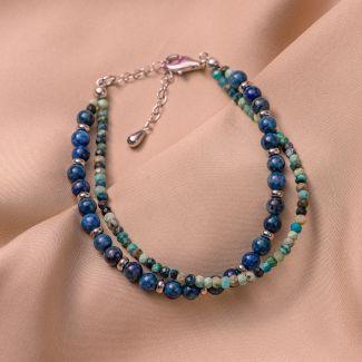 Sterling Silver Bracelet DB chrysocolla