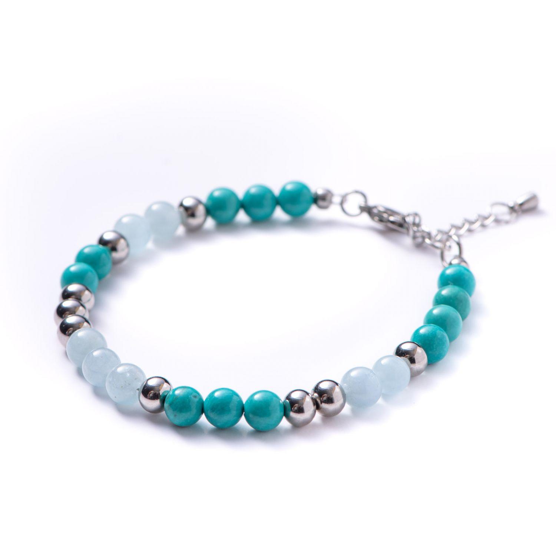 Bracelet aquamarine, turquoise