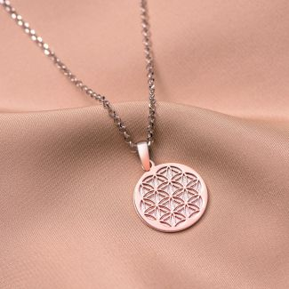 Sterling Silver Necklace Mandala Geometry