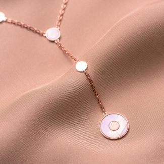 Colier argint Minimal Glam white