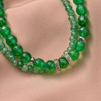 Sterling Silver Bracelet DB jade green