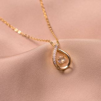 Sterling Silver Necklace Restless Beauty gold