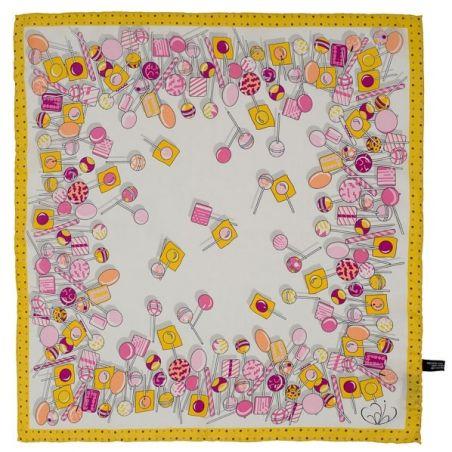 Eşarfă mătase naturală print acadele