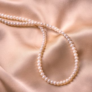 Colier argint Princess small pearls