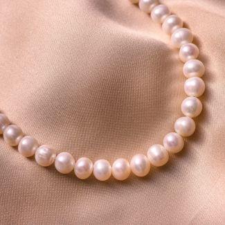 Colier argint Princess perle