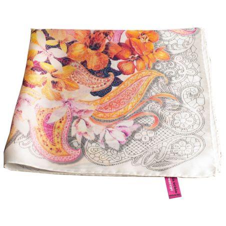 Mila Schon Natural Silk Designer Scarf