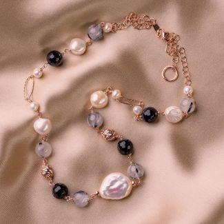 Colier argint perle