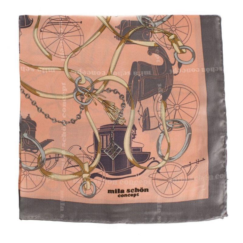 Eşarfă gri cu corai pal M. Schon