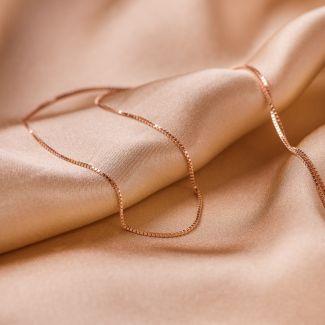 Sterling Silver Necklace rose 50+ cm