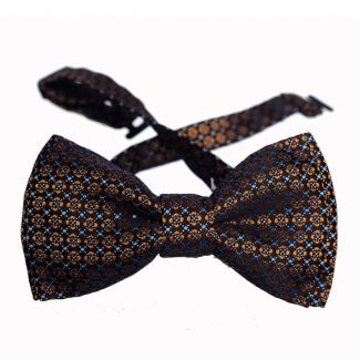 Orange flowers on Navy men bowtie