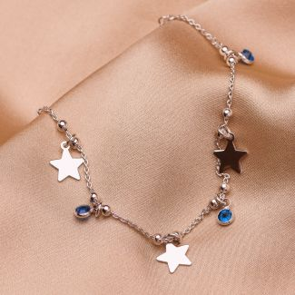 Bratara argint Give me a star