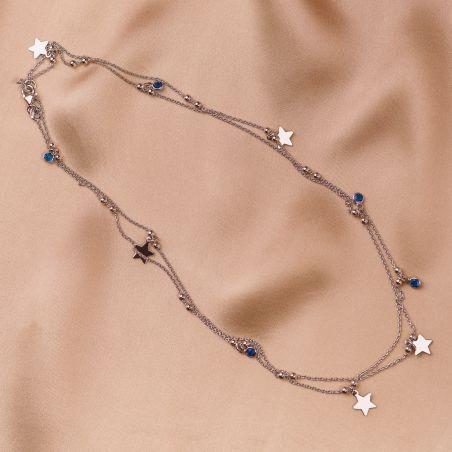 Colier argint Give me a Star