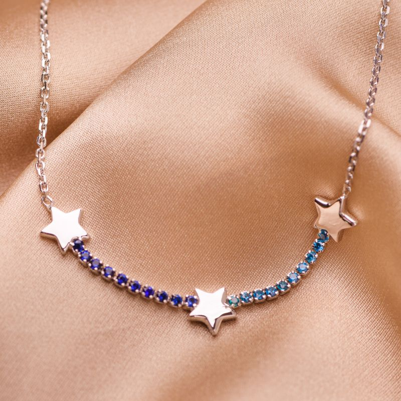Bratara argint Orion Stars