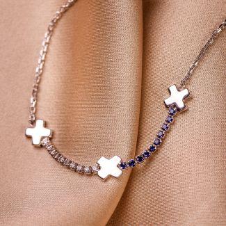 Sterling Silver Bracelet X Dots