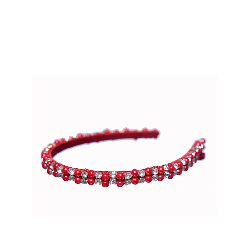 Headband Glamour roșu