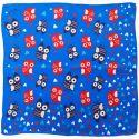 Owls blue Silk Scarf