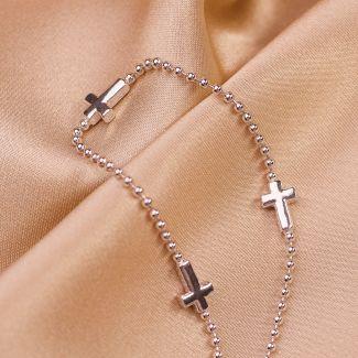 Sterling Silver Bracelet Infinity Cross