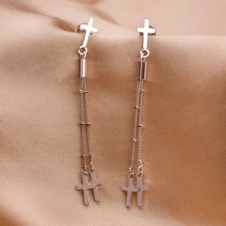 Cercei argint DB Cross