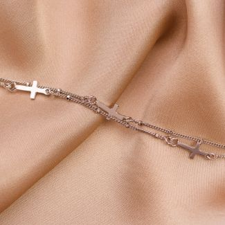 Bratara argint DB Cross