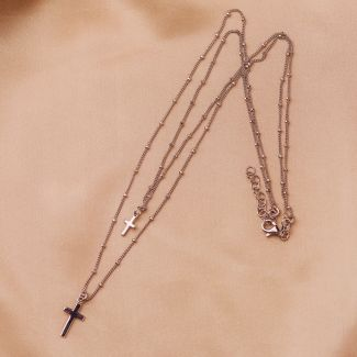 Sterling Silver Necklace DB Cross
