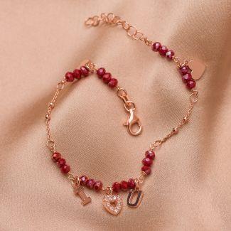 Sterling Silver Bracelet I love you