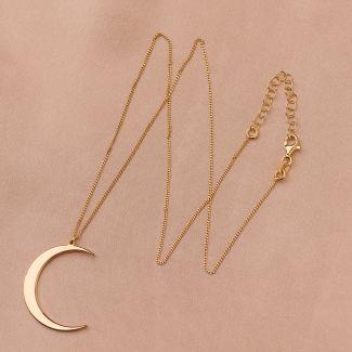Colier argint Moon gold