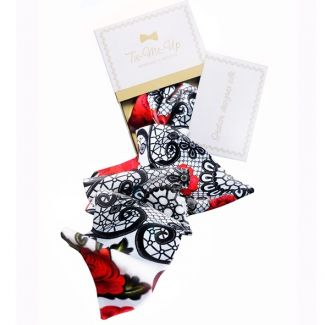 Luxury gift: Mystic Red Silk Scarf and Bow