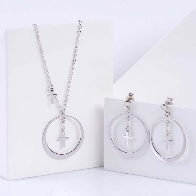 Gift Sterling 925 Silver Earrings and Necklace No doubt