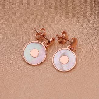 Sterling Silver Earings Minimal White simetry