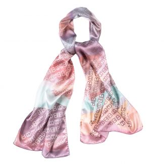 Silk shawl Laura Biagiotti logo dusty pink