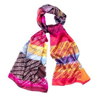 Silk shawl Laura Biagiotti logo