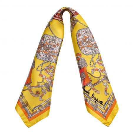 Esarfa matase S twill Parisienne yellow