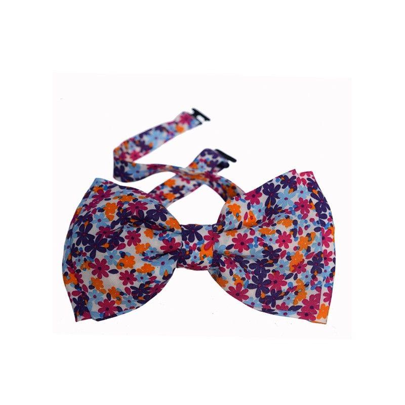 Minnie double bow tie lilac flowers