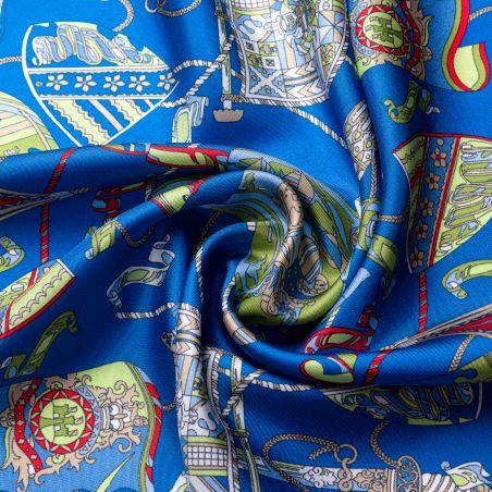 Silk scarf S twill Parisienne blue