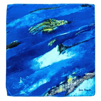Silk scarf That Special Place blue