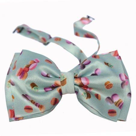 Minnie silk double bow tie macarons