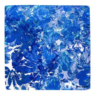 Silk scarf Winter Euphoria