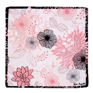 Silk scarf S twill Tres belle pink