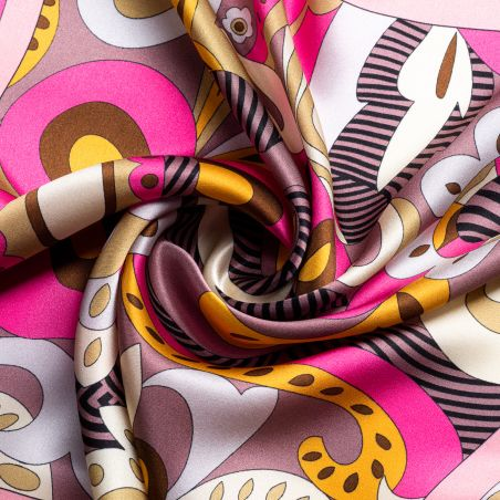 Silk scarf S Pucci Style pink