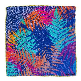 Silk scarf S twill Savanna sunset